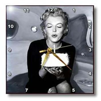 3drose Marilyn Monroe Wall Clock, 10 by 10-Inch
