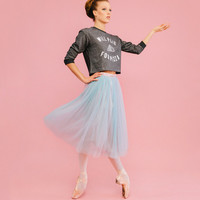 The Tulle Skirt - Seafoam/Dove Grey