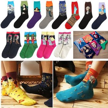 Fashion Unisex Mens Womens Socks Mural Art Casual Socks Graffiti Socks Paintings