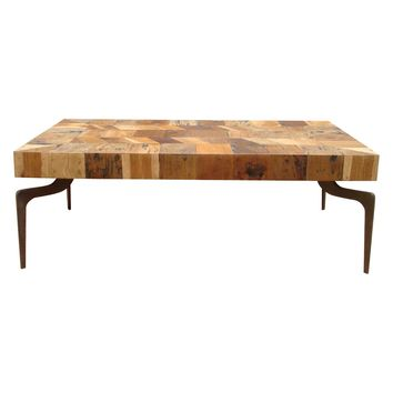 Gajel Coffee Table With Metal Legs