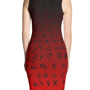 Red Ombre Alchemy Body con Dress