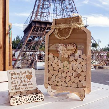 Personalized Wedding Mason Jar Drop Box