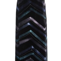 Chevron Metallic Skirt | Moda Operandi