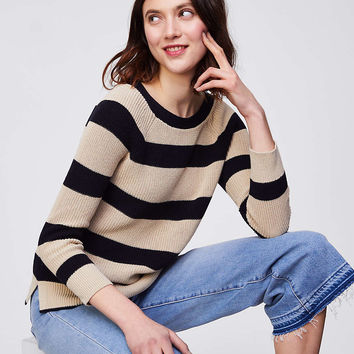 Striped Boatneck Sweater | LOFT