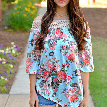 Southern Charm Off Shoulder Top