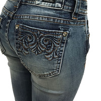 Miss Me Simple Brown Stitch Ankle Skinny Jeans