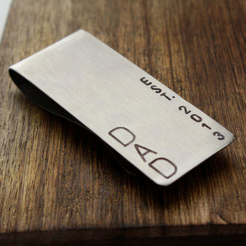 Personalized Dad Money Clip