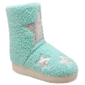 Sweet Star Pattern and Candy Color Design Women's Snow Boots (BLUE,M(37-38)) in Boots | DressLily.com