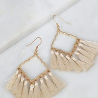 Diamond Tassel Earrings Gold