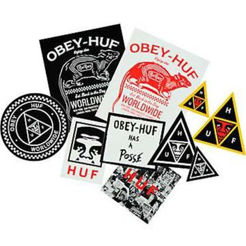 ONETOW Huf x Obey Sticker Pack