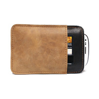The highest quality unique men leather iphone 4 case iphone credit card - gift for him