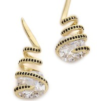 Noir Jewelry Crystal Spiral Earrings