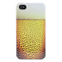 [US$ 2.79]  - Beer Bubbles Pattern Hard Case for iPhone 4 and 4S (Yellow)