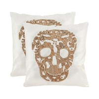Heads or Tails Pillows - Set of 2