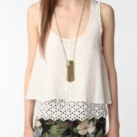 UrbanOutfitters.com > Wink Silk Eyelet Tank Top