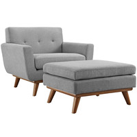 LexMod Engage 2 Piece Sectional Sofa in Expectation Gray