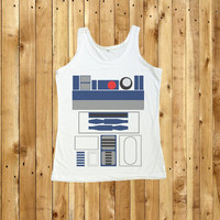 R2D2 STAR WARS Shirt Tank Top T-Shirt Women Shirts Size S M L