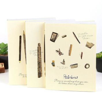 Blank Paper Sketchbook Diary A4 Paiting Drawing Graffiti Sketch Book Notebook Pad Vintage School Student&Office Stationery