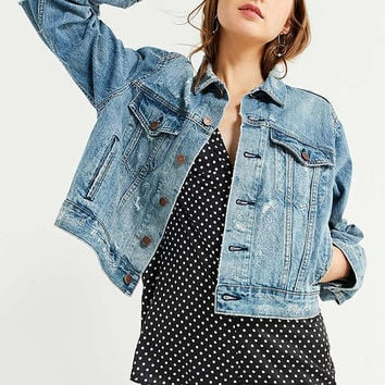 BDG Boyfriend Destroyed Denim Trucker Jacket | Urban Outfitters
