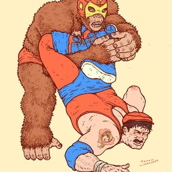 Gorilla Clutch Art Print by Ramon Villalobos