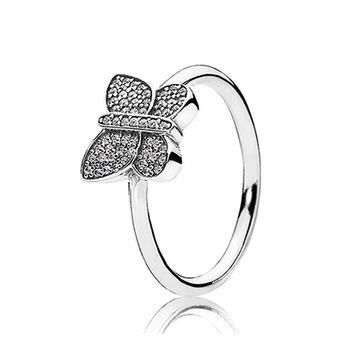 Authentic Pandora Jewelry - Sparkling Butterfly Ring