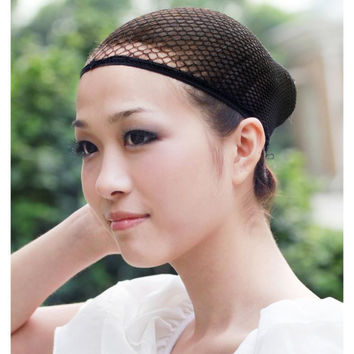 Tools & Accessories Hairnets Free Shipping Hotsale 50 Pcs Blonde Color New Fishnet Wig Cap Stretchable Elastic Hair Net Snood Wig Cap/ Wig Cap Hair-net