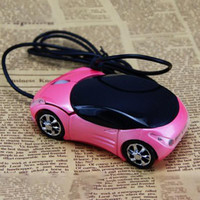 2017 New Design Computer Accessory Mini Car-shaped Mouse USB optical wired mouse headlights mouse for desktop computer laptop