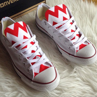 ANY COLOR Chevron Converse Shoes