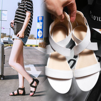 Stylish Design Summer Korean Bohemia Beach Flat Shoes Plus Size Sandals [4920287172]