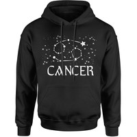 Cancer Zodiac Star Chart  Adult Hoodie Sweatshirt