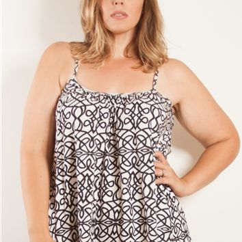 Plus Size Tops | Printed Cotton Cami | Swakdesigns.com
