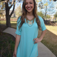 T-Shirt Tunic - Mint
