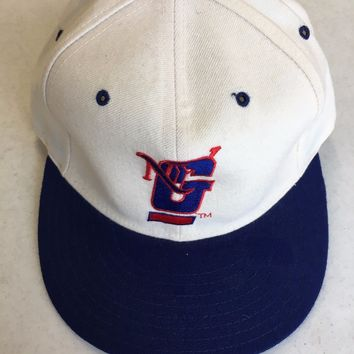 RETRO NFL NEW ERA 5950 NEW YORK GIANTS WHITE FRONT FLAT BRIM FITTED HAT