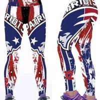 New England Patriots L/XL Leggings  #12 Tom Brady womens Athletic Yoga Stretch