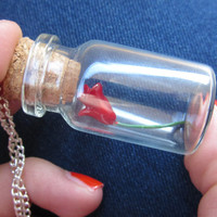 Beauty and the Beast DISNEY Rose in a Bottle Pendant/ Necklace