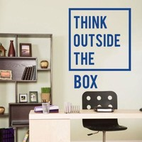 Inspirational Think Outside The Box Wall Decal Removable Art