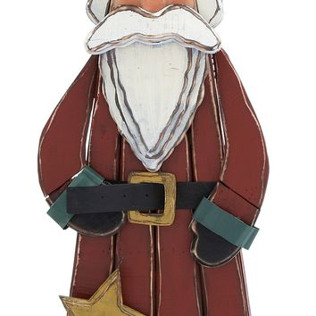 Lovely Wood Carved Santa Claus