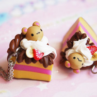 Bear cake - cute polymer clay miniature