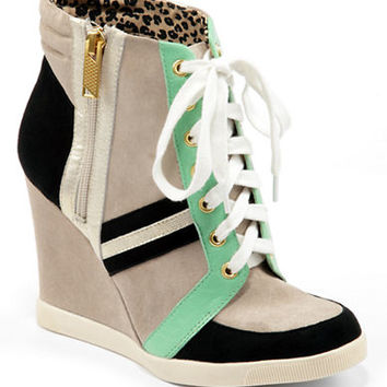 Jessica Simpson Lexia Color-Block Wedge Sneakers