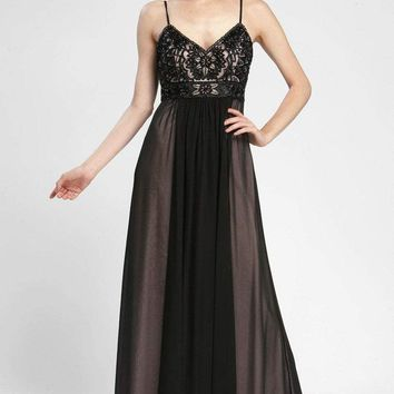 Sue Wong - Sleeveless Embellished A Line Gown N3402