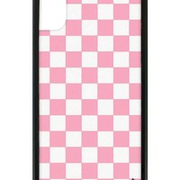 Pink Checkers iPhone X Case
