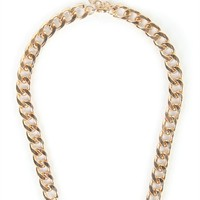 Short Chunky Chain Necklace with Queen Pendant