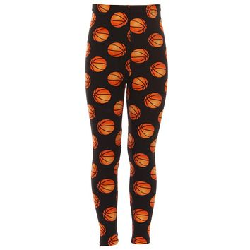 Kid's colorful Basketball Sports Pattern Printed Leggings