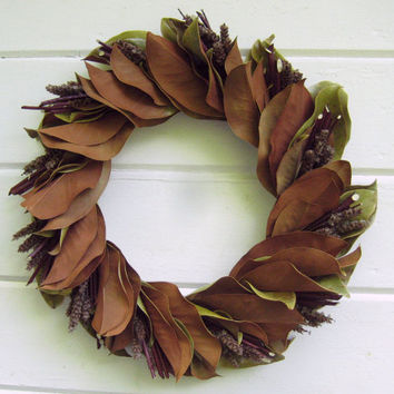 Spring Door Wreath  Spring Rhythm  Magnolia Red by SeasonalBounty