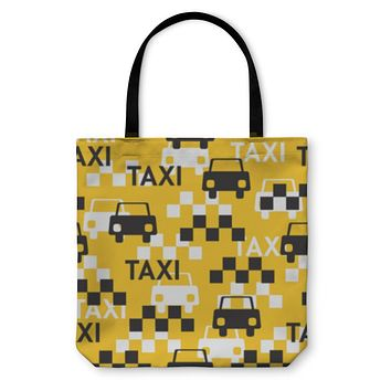 Tote Bag, Taxi Pattern