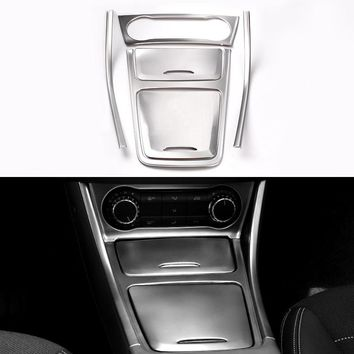 6PCS Middle control decoration article cover Console panel stickers in silve for Mercede Benz CLA/GLA/A Class accessories
