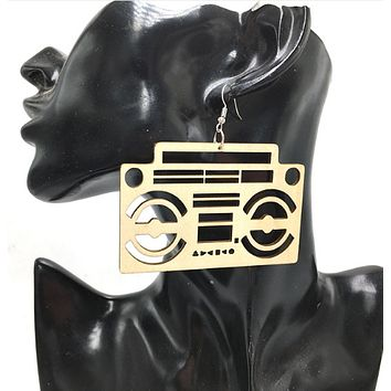 Radio Raheem Earrings | Afrocentric Jewelry | Natural Hair Accessories