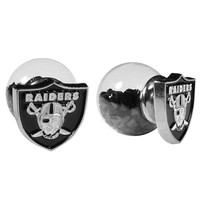 NFL - Oakland Raiders Front/Back Earrings