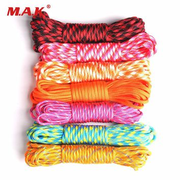Outdoor Climbing Paracord 550 Parachute Cord Lanyard Rope Mil Spec Type III 7 Strand 100FT Climbing Camping Survival Equipment