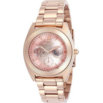 Invicta Women's 23750 Angel Quartz Chronograph Pink Dial Watch